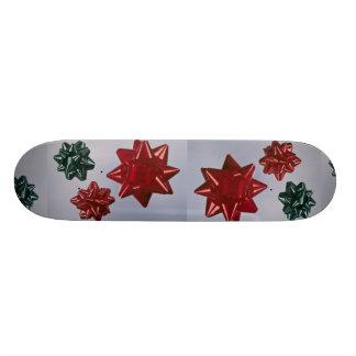 Three colorful bows custom skateboard