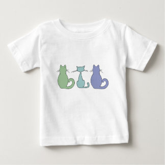Three colorful cats baby T-Shirt