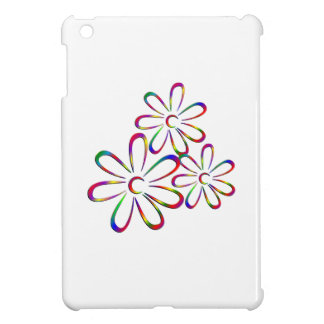 Three Colorful Flowers Case For The iPad Mini