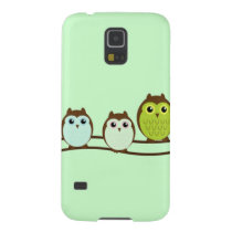 Three Colorful Owls Case For Galaxy S5