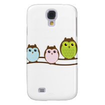 Three Colorful Owls Samsung S4 Case