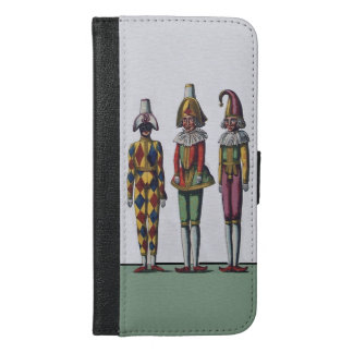 Three Colorful Vintage Dolls Dressed as jesters iPhone 6/6s Plus Wallet Case