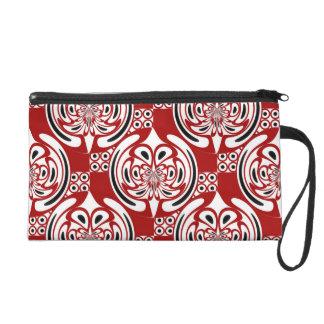 Three colors pattern wristlet purse