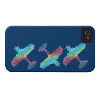 Three Colorwashed Biplanes iPhone 4 Cover