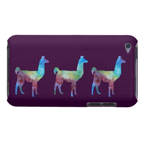 Three Colorwashed Llamas Barely There iPod Cover