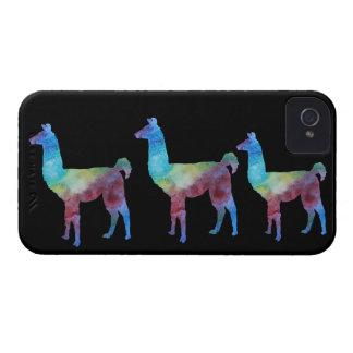 Three Colorwashed Llamas iPhone 4 Case-Mate Case