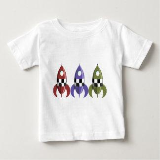 Three Coloured Rockets Baby T-Shirt