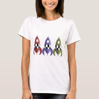Three Coloured Rockets T-Shirt