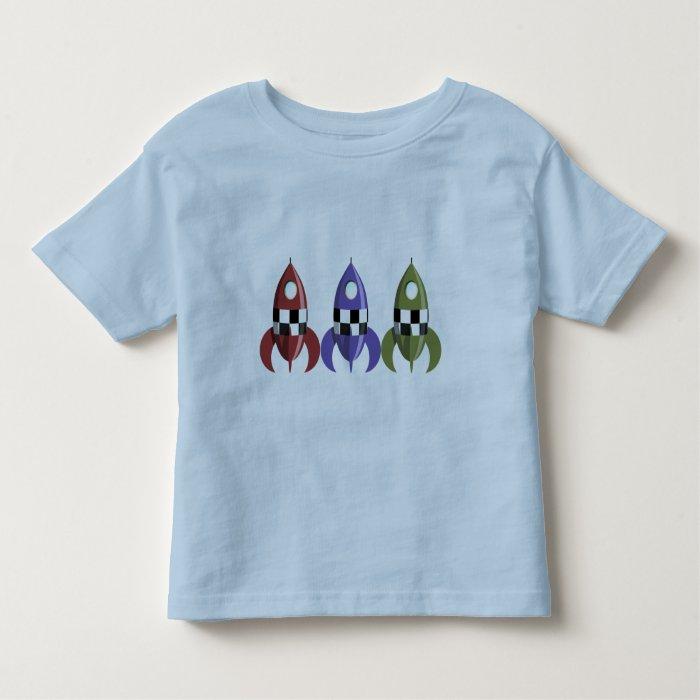 Three Coloured Rockets Toddler T-shirt