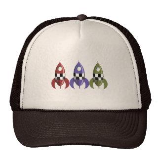 Three Coloured Rockets Trucker Hat