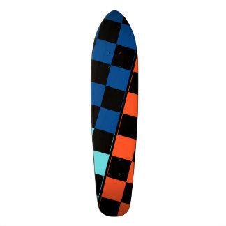 Three Coloured Tiles Design Skateboard Deck