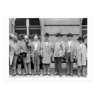 Three Confederate Generals, 1917 Postcard