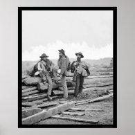 Three Confederate Prisoners at Gettysburg 1863 Print