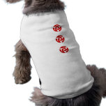 Three connected three way hearts (red) pet clothes