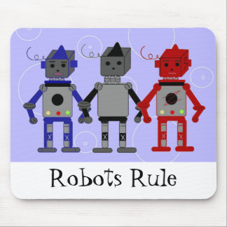 Three Cool Robots Mouse Pad