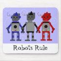 Three Cool Robots Mousepads
