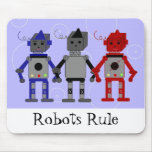 Three Cool Robots Mousepads