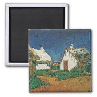 Three Cottages in Saintes-Maries-de-la-Mer Magnet