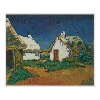 Three Cottages in Saintes-Maries-de-la-Mer Poster
