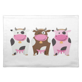 Three Cows Cloth Placemat