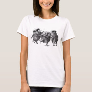 Three Crazy Owls T-Shirt