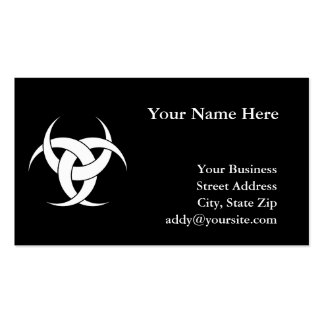 Three Crescents Double-Sided Standard Business Cards (Pack Of 100)