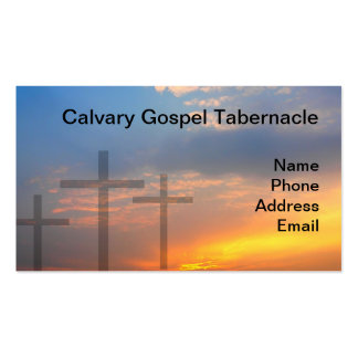 Three Crosses and Sunrise Business Card Template