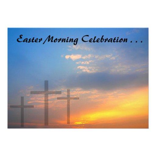 Three Crosses and Sunrise Custom Announcement