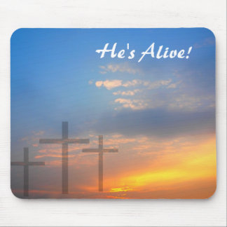 Three Crosses and Sunrise Mouse Pad