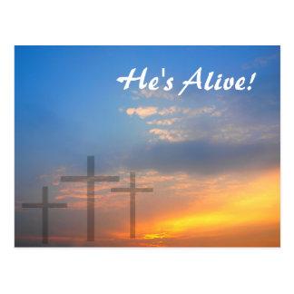 Three Crosses and Sunrise Postcard