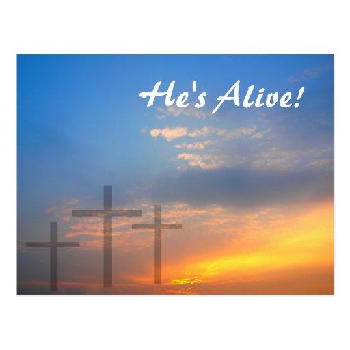 Three Crosses and Sunrise Postcards