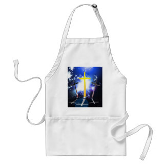 Three Crosses At Calvary Adult Apron