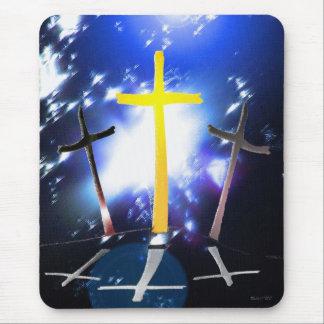 Three Crosses At Calvary Mouse Pad