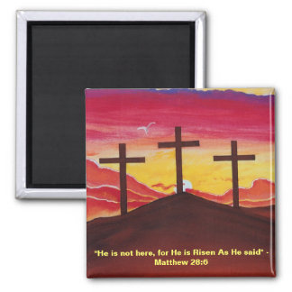Three Crosses Calvary Crucifixion Easter Magnet