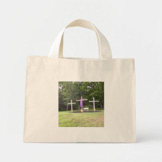 Three Crosses Mini Tote Bag