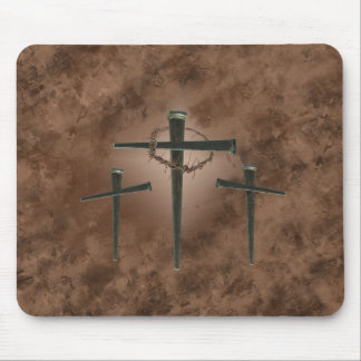 Three Crosses Mouse Pad