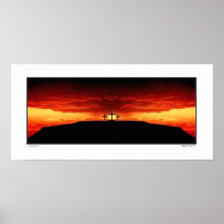 Three Crosses of Golgotha - He Has Risen! Poster