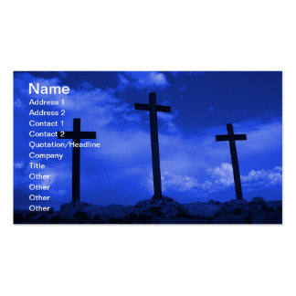 Three Crosses of Jesus Christian business card art