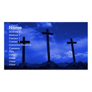 Three Crosses of Jesus Christian business card art