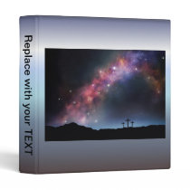 Three Crosses on a Hillside under the Milky Way Binder