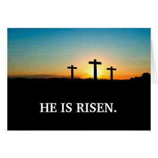 Three Crosses on Calvary Easter Card