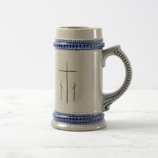 Three Crosses on Calvary Mugs