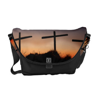 Three Crosses Rickshaw Messenger Bag