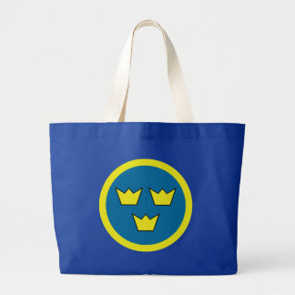 Three Crowns of Sweden Large Tote Bag