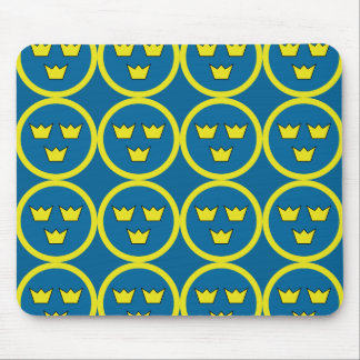 Three Crowns of Sweden Mouse Pad