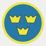 """""""Three Crowns"""" Round Sticker"""