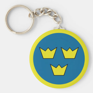 Three Crowns Swedish Insignia Keychain