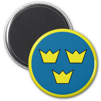 Three Crowns Swedish Insignia Magnet