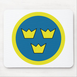 Three Crowns Swedish Insignia Mouse Pad