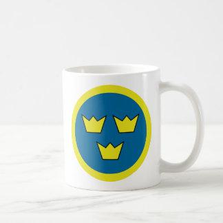 Three Crowns Swedish Insignia Classic White Coffee Mug